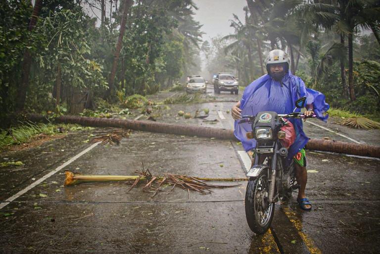 Tens of thousands have been forced to evacuate in the Philippines because of a powerful typhoon.