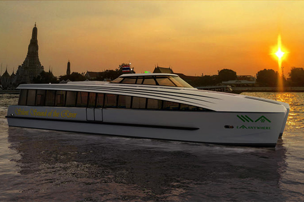 Energy Absolute plans to operaate a fleet to ferry passengers on the Chao Phraya River. (Energy Absolute photo)