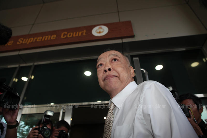 Former foreign minister Surapong Tovichakchaikul is seen at the Supreme Court's Criminal Division for Holders of Political Positions on June 10, 2018. He died on Wednesday. (Photo by Apichart Jinakul)