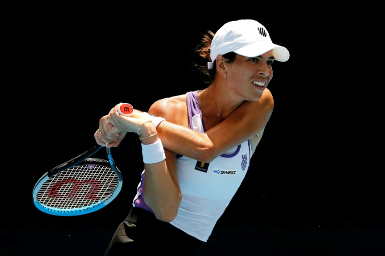 Competitive spirit: Aussie Ajla Tomljanovic of Australia in action against American Alison Riske in the UTR Pro Match Series event.