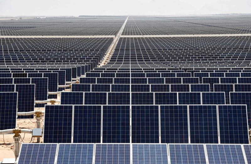 FILE PHOTO:  The Villanueva photovoltaic (PV) power plant is seen in the desert near Villanueva, Coahuila State, Mexico on April 20, 2018. (AFP)