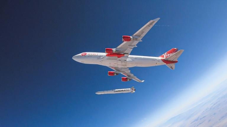 A test release of Virgin Orbit's LauncherOne rocket in July 2019.