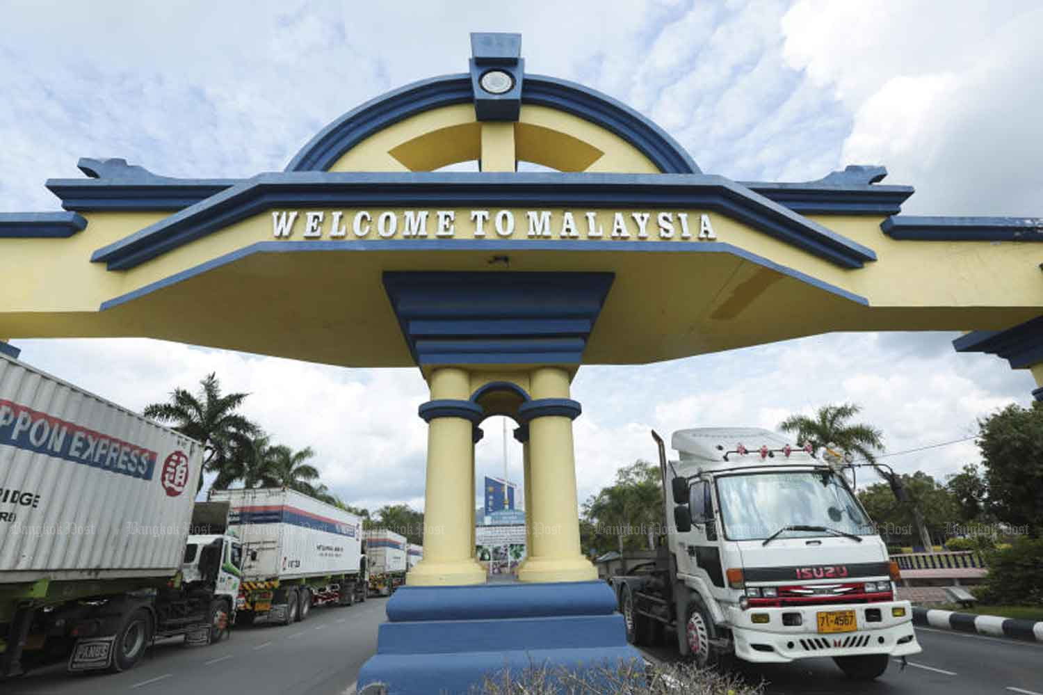 Padang Besar border checkpoint in Songkhla province. (File photo)