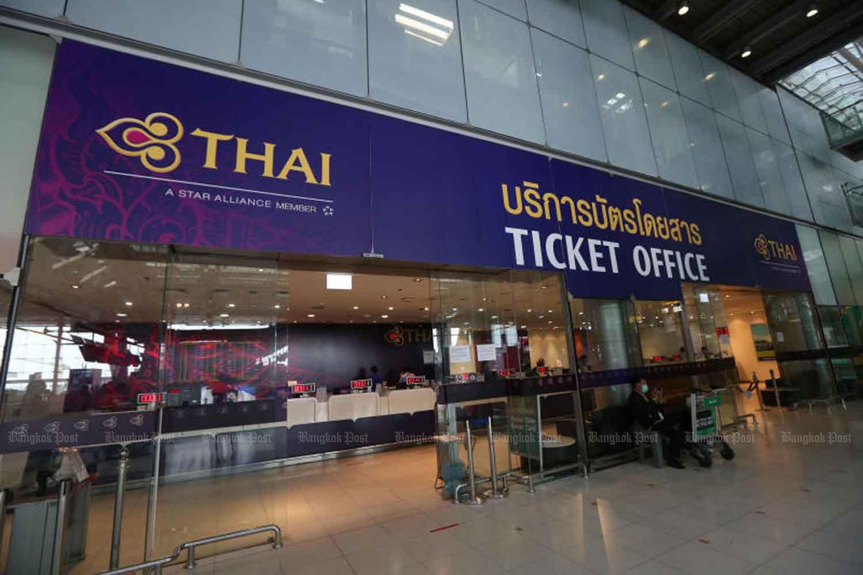 Thai Airways ticket office at Suvarnabhumi airport in Samut Prakan province (Photo by Varuth Hirunyatheb)