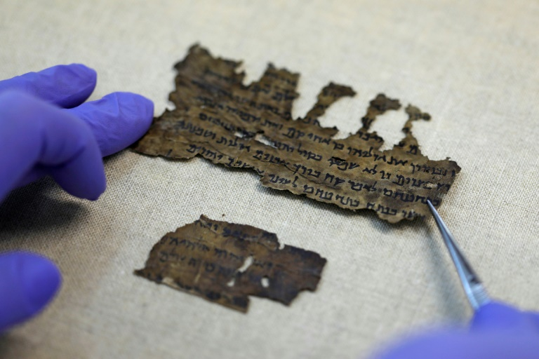 The parchment and papyrus Dead Sea Scrolls contain Hebrew, Greek and Aramaicand include some of the earliest-known texts from the Bible, including the oldest surviving copy of the Ten Commandments.