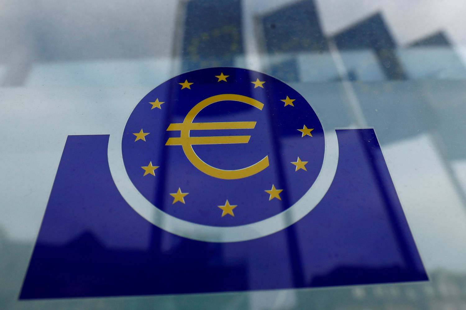 The European Central Bank logo is seen in Frankfurt on Jan 23. (Reuters photo)
