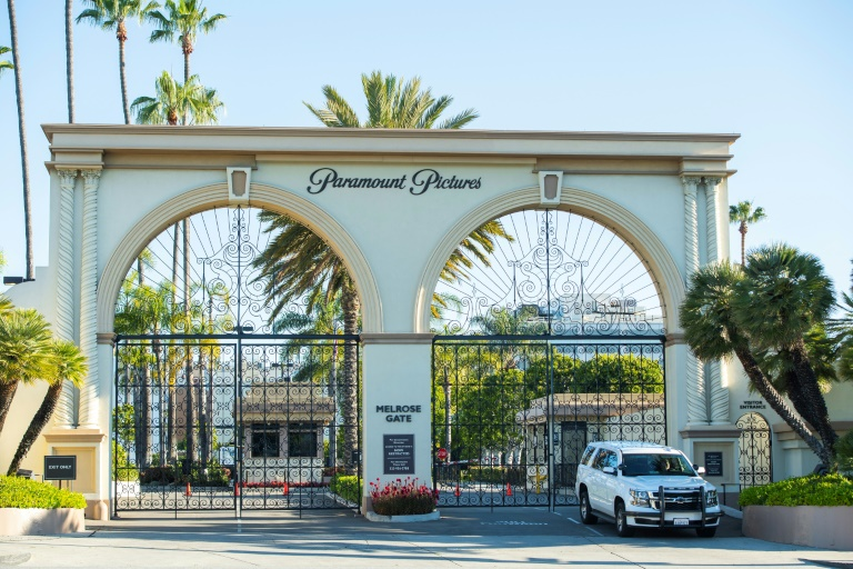 The closed Paramount Studio in Los Angeles. It is not clear if major Hollywood studios will be able to resume operations from next week because Los Angeles county is one of the main coronavirus epicenters in California