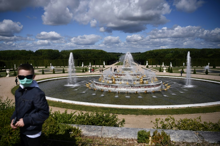 The Palace of Versailles, a French landmark, has reopened after 82 days of closure. (AFP Photo)