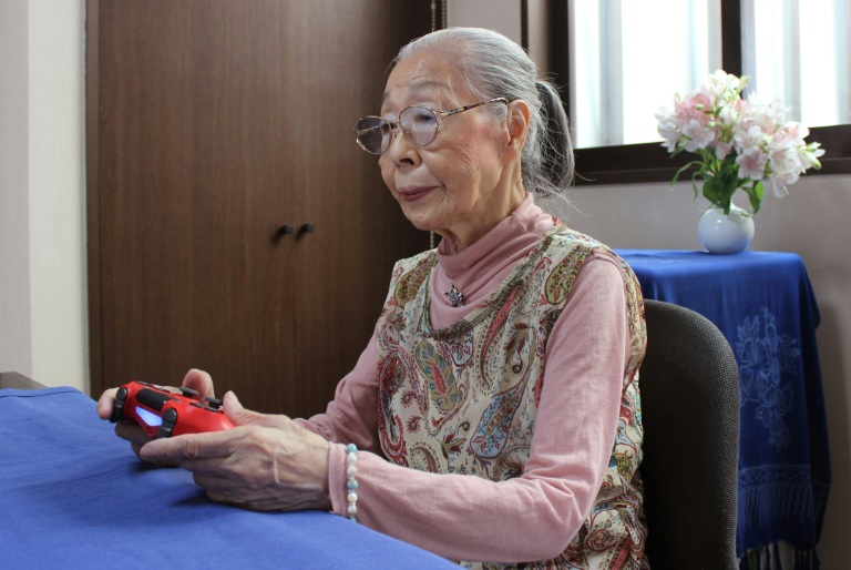 Hamako Mori, 90, known as 'Gamer Grandma', spends hours a day battling monsters and going on missions in the virtual worlds of her favourite games.