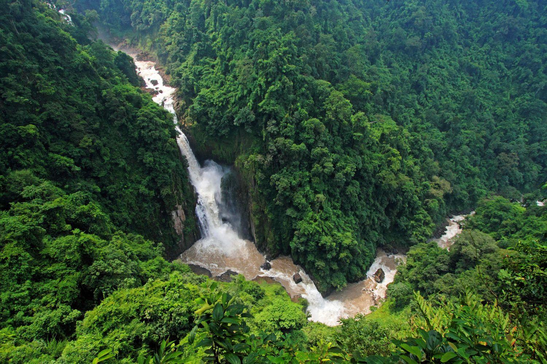A bird's-eye view of Haew Narok Waterfall at Khao Yai National Park in Nakhon Ratchasima. (Photo courtesy of Khao Yai National Park)