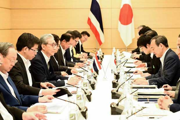 Japan has agreed to support Thailand becoming a member of the Comprehensive and Progressive Agreement for Trans-Pacific Partnership in a meeting in Tokyo on July 18, 2018. (Government House photo)