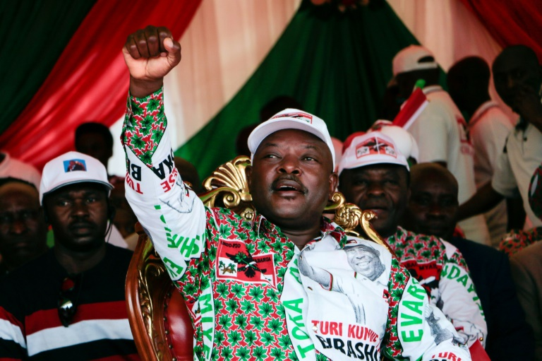 Nkurunziza, pictured on the election campaign trail on May 16