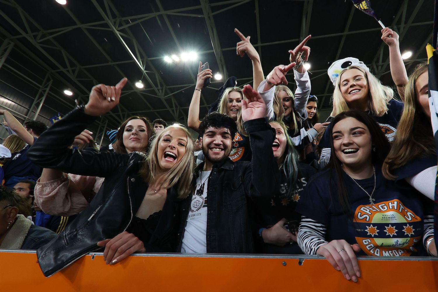 Fans attend the Super Rugby match between the Otago Highlanders and Waikato Chiefs at Forsyth Barr Stadium in Dunedin, New Zealand on Saturday. (AFP Photo)