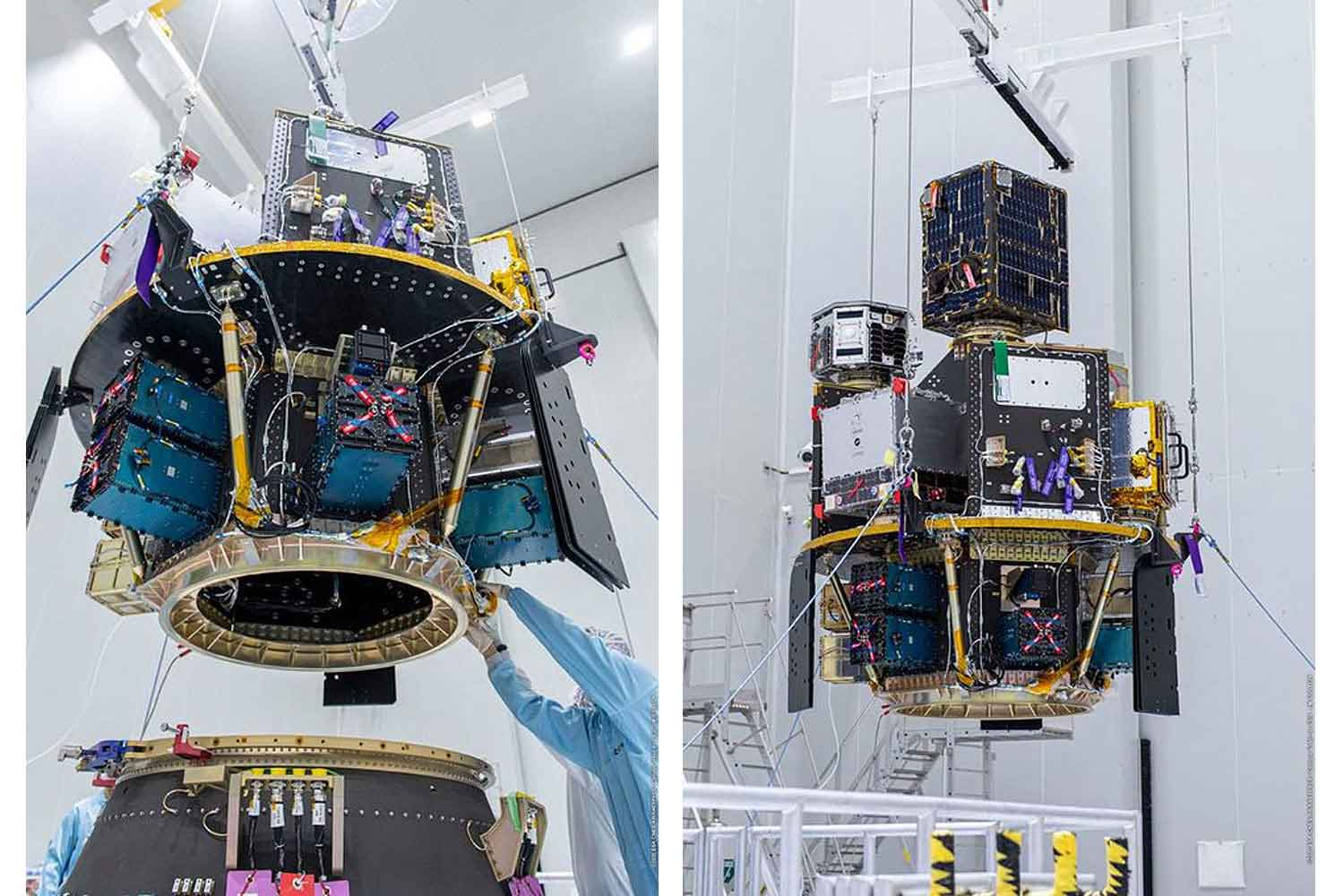 The fully equipped Napa-1 satellite to be launched on Friday at 8.51am local time from a base in French Guiana. It will take images of the Earth at about 500 kilometres up in space.(Royal Thai Air Force photo)