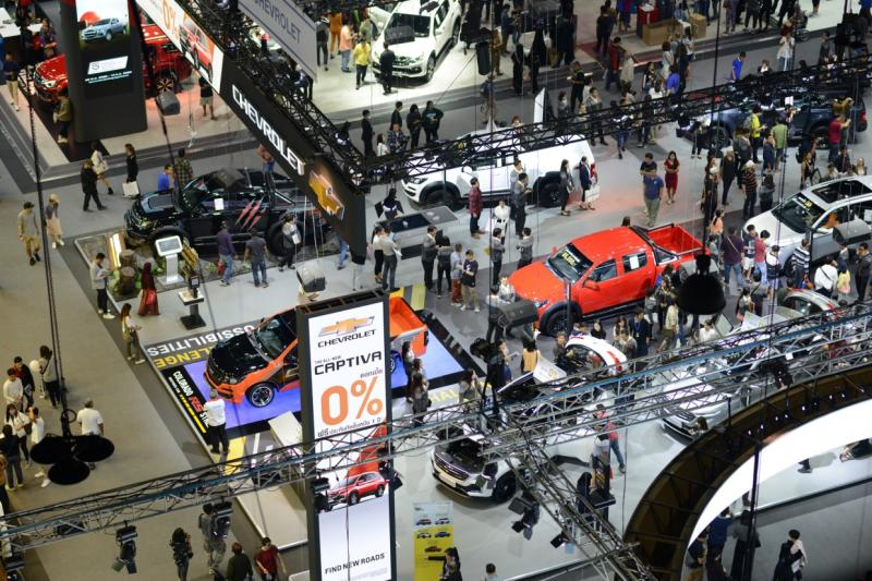 Chevrolet Sales Thailand promoted 0% installment payments for Captiva models at the Motor Expo 2019 held from Nov 29 to Dec 10, two months before the shutdown of its factory in February. (Photo supplied)