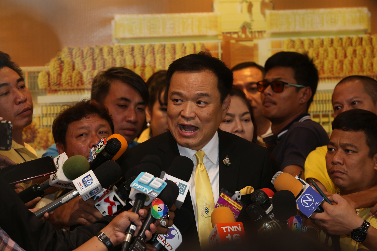 Deputy Prime Minister and Public Health Minister Anutin Charnvirakul has volunteered to be the first person to be injected with an experimental Thai-made Covid-19 vaccine. (Bangkok Post file photo)