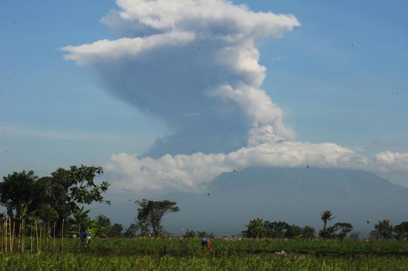 Indonesia's most volatile volcano erupts