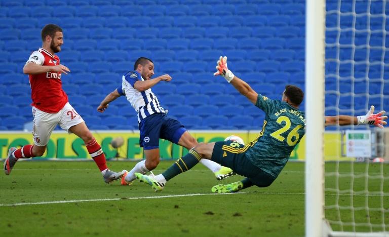 Brighton matchwinner Maupay slams Arsenal over lack of 'humility'