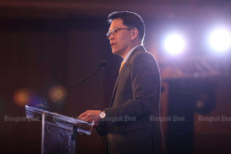 The tenure of Bank of Thailand governor Veerathai Satiprabhob ends on Sept 30. (Bangkok Post file photo)