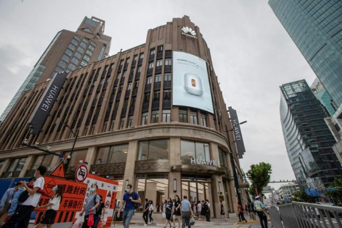 Huawei opens Shanghai flagship store as US pressure grows