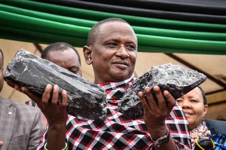 Tanzanian small-scale miner Saniniu Kuryan Laizer, 52, found two of the biggest of the country's precious gemstones, Tanzanite.