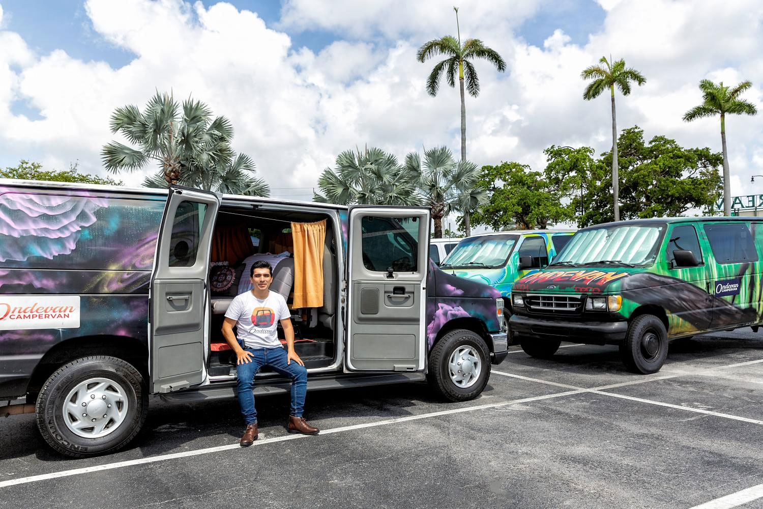 At Ondevan in Miami, a camper van runs about $100 a day.