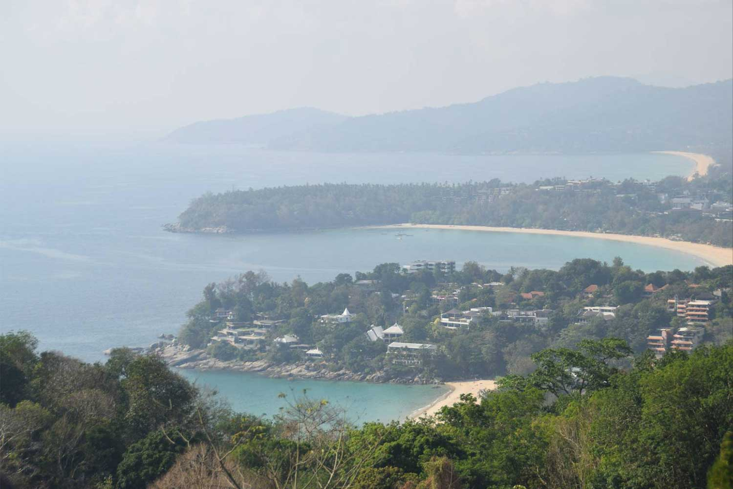 The vista from Karon Viewpoint, a popular spot for visitors to Phuket province.(Photo: Achataya Chuenniran)