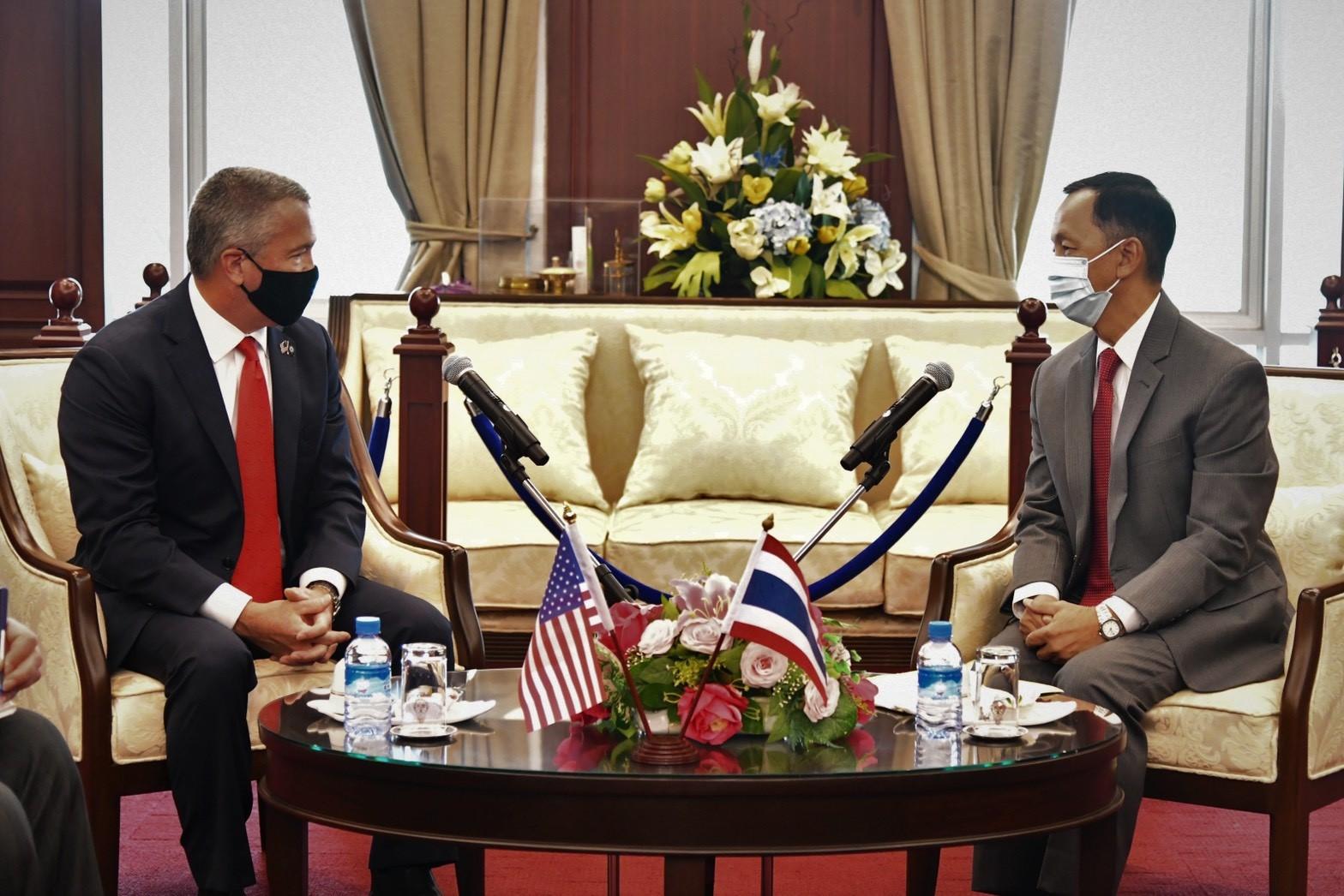 Us Ambassador H E Mr Michael George Desombre Paid Courtesy Visit To Nacc President