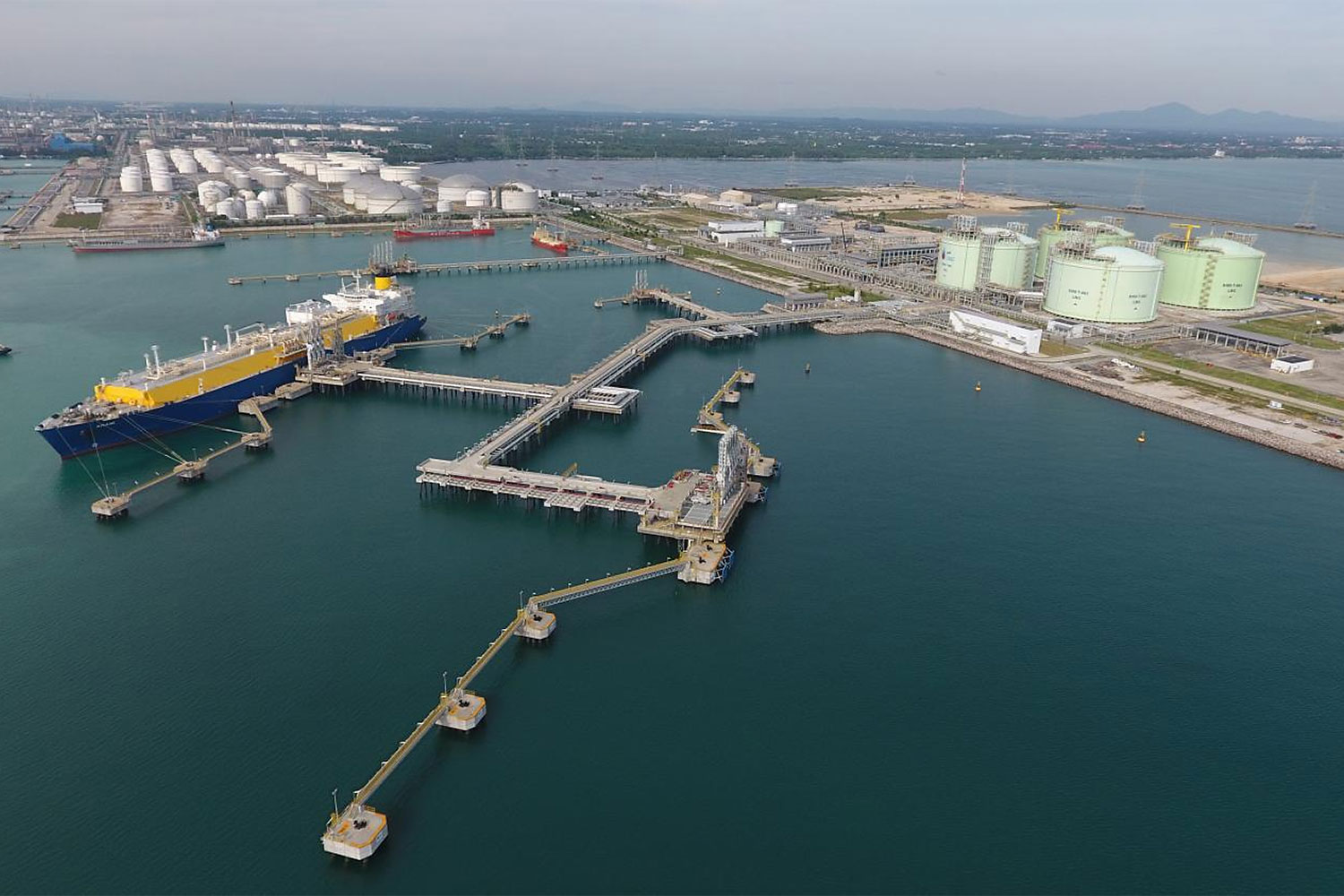 PTT's LNG receiving terminal in Rayong. LNG infrastructure is among the large energy projects planned for 2020.