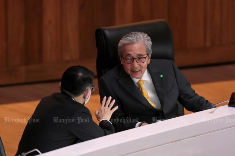 Deputy Prime Minister Somkid Jatusripitak on Wednesday (Bangkok Post photo)