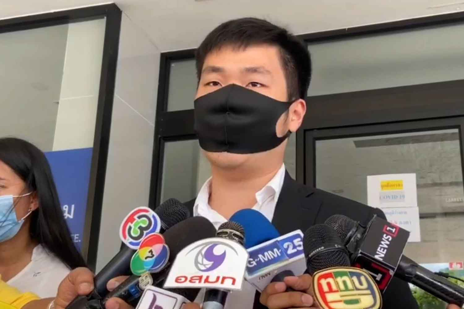 Woraphat Tangpakorn, son of Banyin, is at the Crime Suppression Division headquarters in Bangkok on Thursday. (Photo supplied)