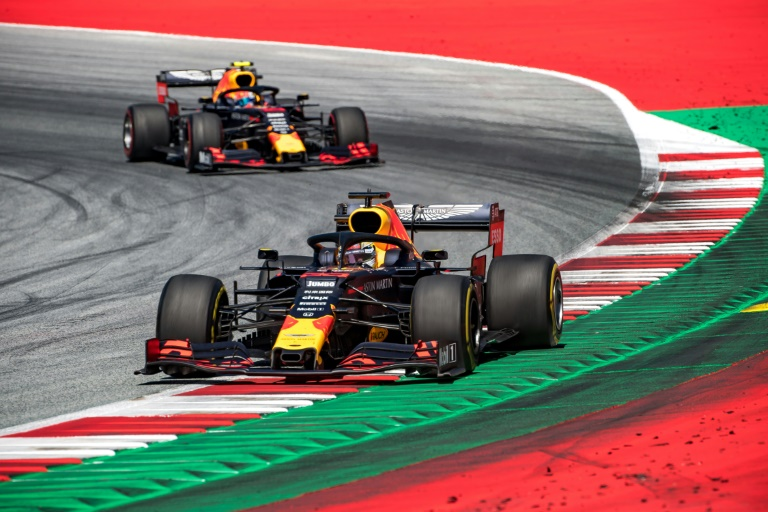 Victory path: Max Verstappen take the win in Austria in 2019.