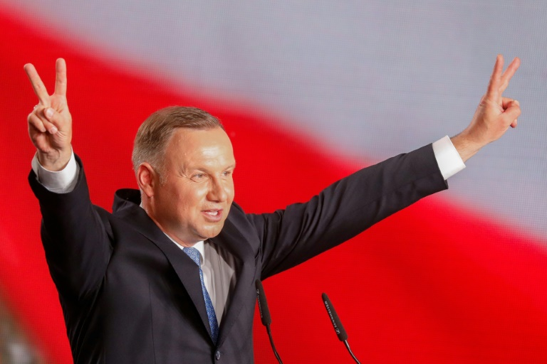 Polish President Andrzej Duda, in a June 28, 2020 image, wants to ban adoption by same-sex couples.