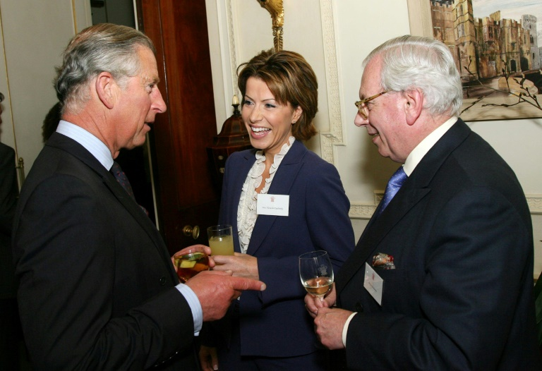 David Starkey (right) seen here in 2007 with Britain's Prince Charles, Prince of Wales, has resigned from his position at Cambridge University.