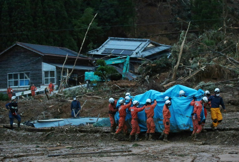 Torrential rain triggers massive flooding in southwestern Japan