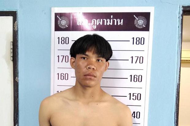 Somchat Bootchan at Phu Pha Man police station after his arrest on Monday. (Photo:  Chakkrapan Natanri)