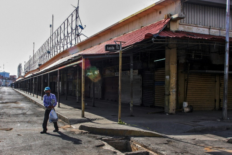 The Las Pulgas market in Maracaibo, in the Venezuelan state of Zulia, was closed due to a coronavirus outbreak that originated there