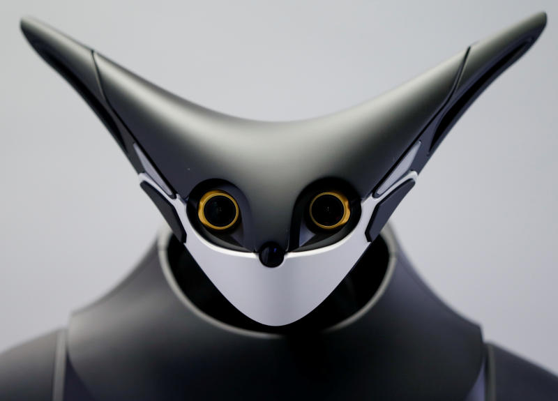 Telexistence's shelf-stacking avatar robot, designed to resemble a kangaroo and developed to work in a convenience store, is seen during a photo opportunity ahead of its unveiling in Tokyo, Japan July 3, 2020. (Reuters photo)