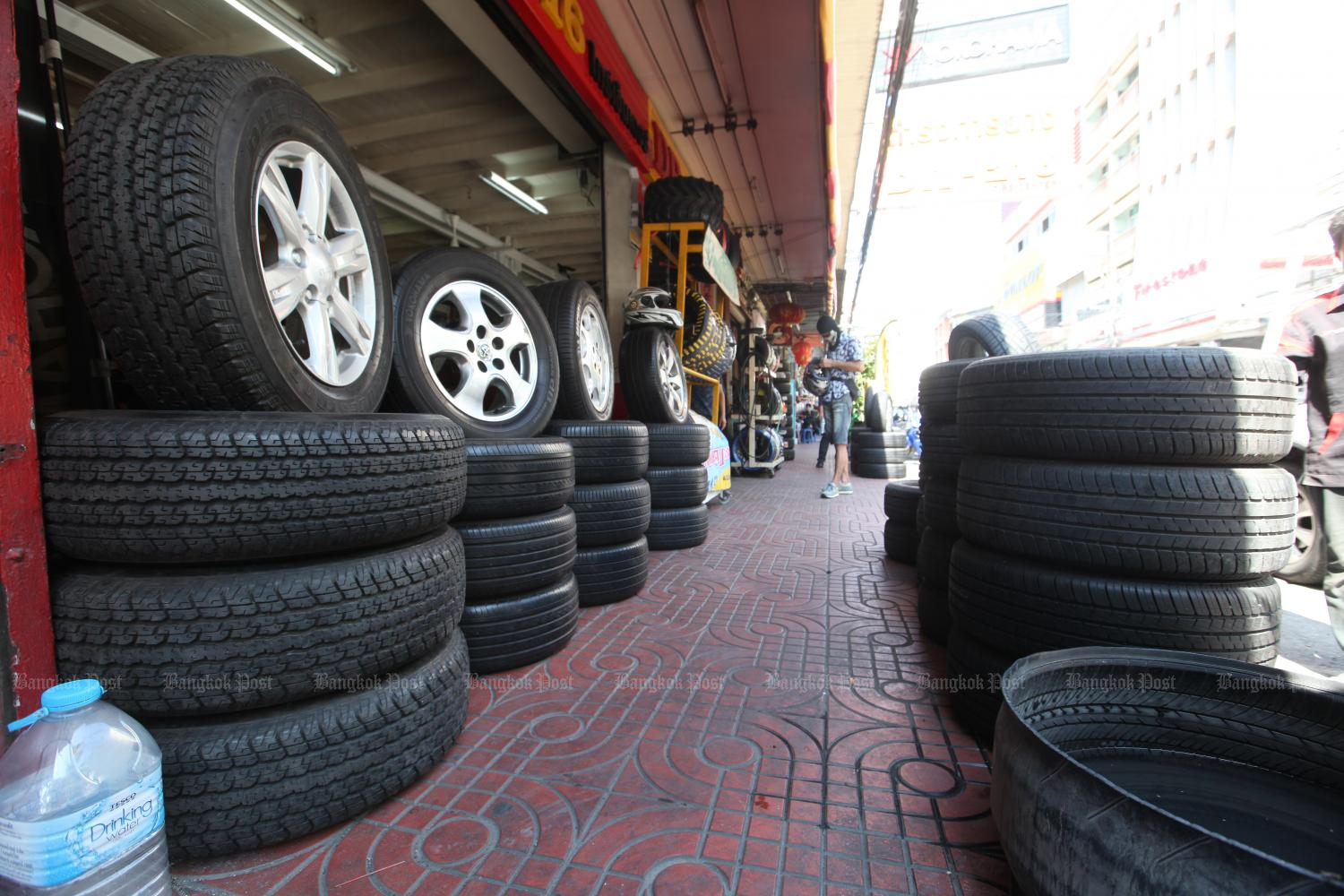 The US is Thailand's largest tyre export market.(Photo by Pawat Laupaisarntaksin)