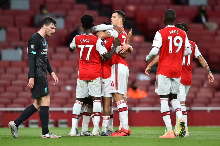Arsenal enjoyed a surprise win over champions Liverpool.