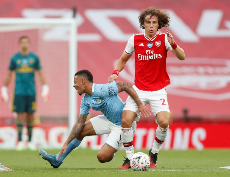 Arsenal defender David Luiz shone against Manchester City.