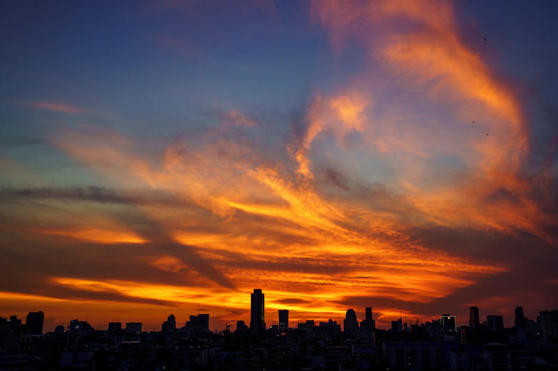The skyline of Bangkok is seen during sunset, May 15, 2020. (Reuters file photo)