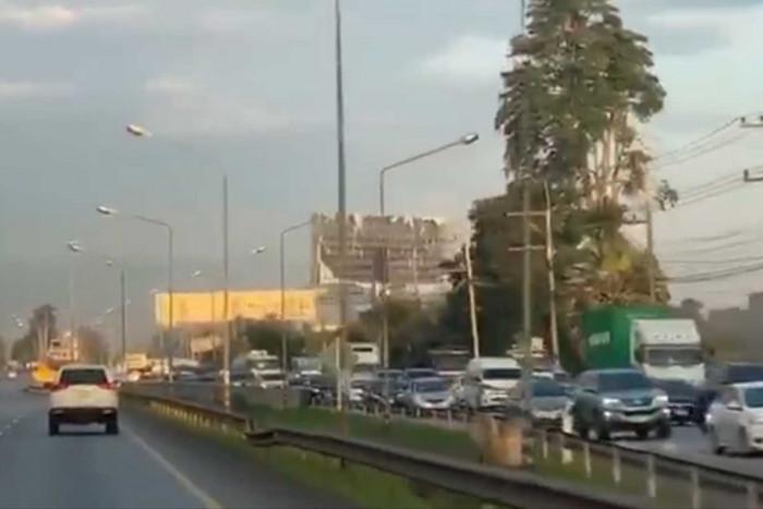Heavy traffic in Korat as long weekend begins