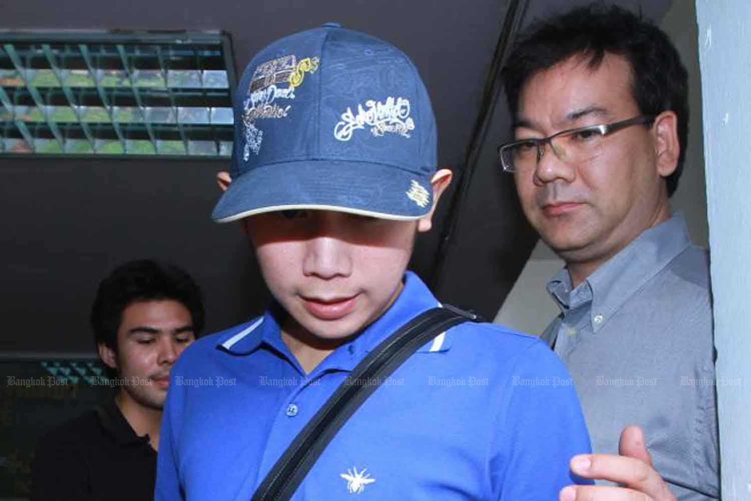 Vorayuth Yoovidhya, the youngest son of Red Bull executive Chalerm Yoovidhya, arrives at the Police General Hospital for a blood test after his hit-and-run incident in Bangkok in September 2012 (File photo: Somchai Poomlard).