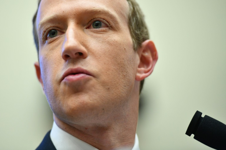 Facebook chief Mark Zuckerberg, shown in this 2019 file photo, will tell a major antitrust hearing July 29, 2020, that the internet giant would not have succeeded without US laws fostering competition -- but that the rules of the internet now need updating.