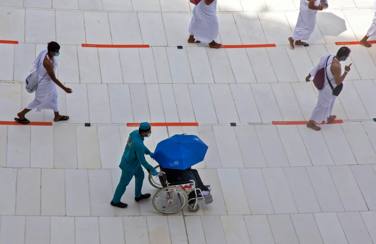 The hajj in Mecca is usually one of the world's largest religious gatherings and last year attracted 2.5 million visitors, but this year a maximum of 10,000 people will take part.