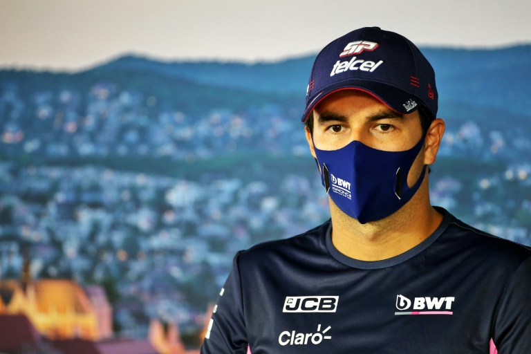 Sergio Perez pictured at the Hungarian Grand Prix earlier this month.