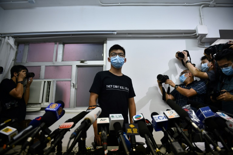 Hong Kong pro-democracy dissident Joshua Wong slammed authorities for disqualifying activists from being candidates in September's legislative elections