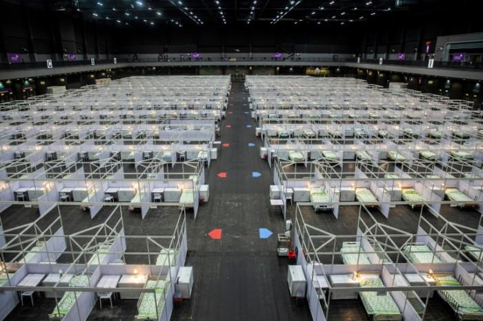 Hong Kong opens makeshift Covid hospital