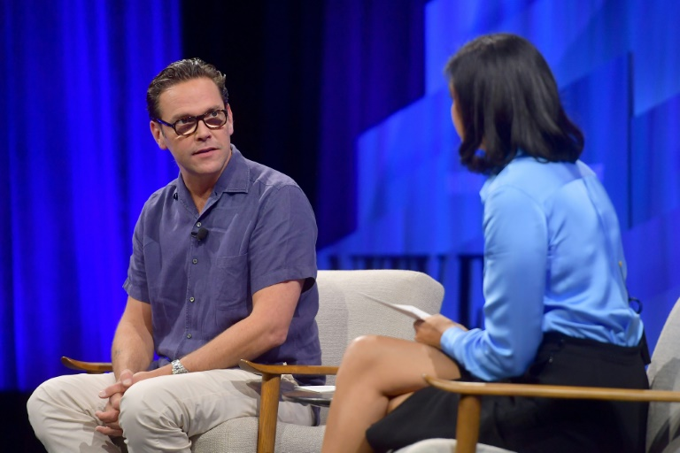 James Murdoch, who has resigned from News Corp, has been critical of the business and its media coverage. (AFP Photo)
